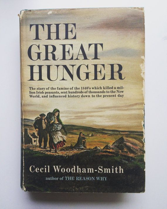 The Great Hunger 1962 First Edition Cecil Woodham-Smith vtg books Potato Famine