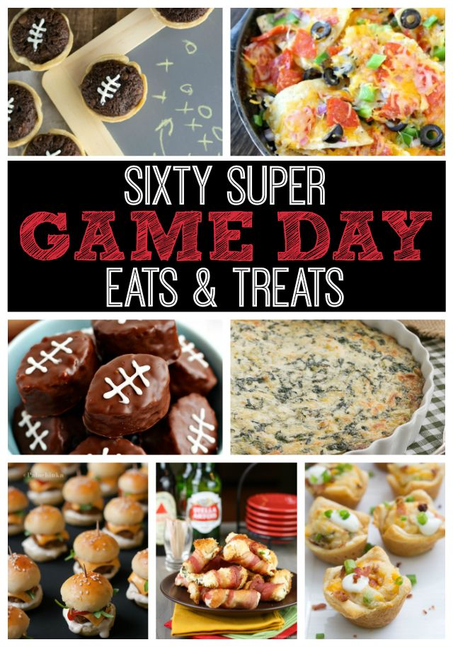 Over 60 Recipes for great game day foods! #superbowl #appetizer #gameday