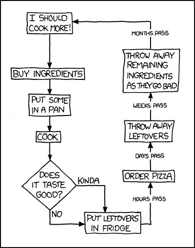 Describing my relationship with cooking - xkcd!