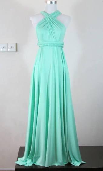 long mint dresses - Google Search