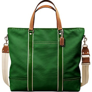 Coach Hamptons Men's Canvas Weekend Tote in green [I'm missing this one & the white/off-white one :o( ]Men Canvas, Canvas Weekend