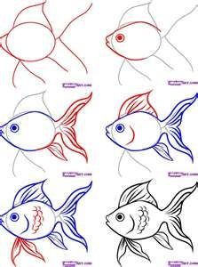 como dibujar peces Gráficos que muestran como dibujar partes del cuerpo y otros