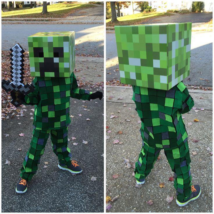 Minecraft Creeper Costume #Halloween #creeper #costume
