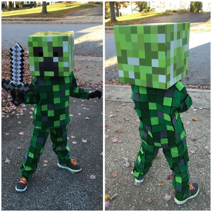 Minecraft Creeper Costume #Halloween #creeper #costume