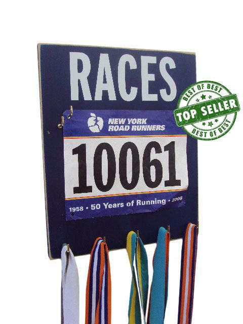 Race Bib / medal Displays  - race bibs and medals holder - race bibs with medals hanger on Etsy, $33.99