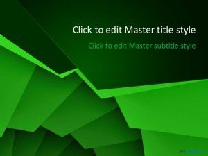Free Green Spiral PPT Template