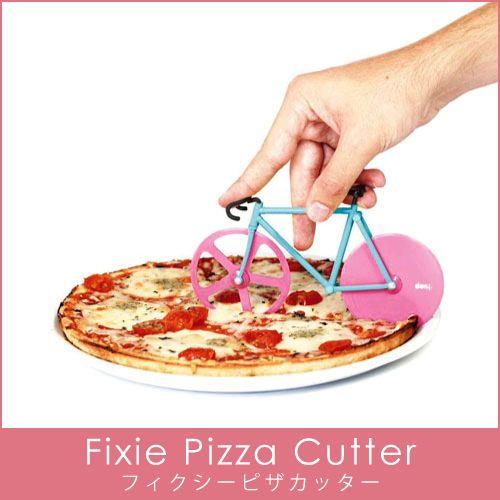 フィクシー ピザカッター/Fixie Pizza Cutter<br>【_ピザ_カッター_自転車_バイク_フィックス_パーティ_オブジェ_誕生日_お洒落_かわいい_デザイン_キッチン用品の通販のテンプー】:楽天