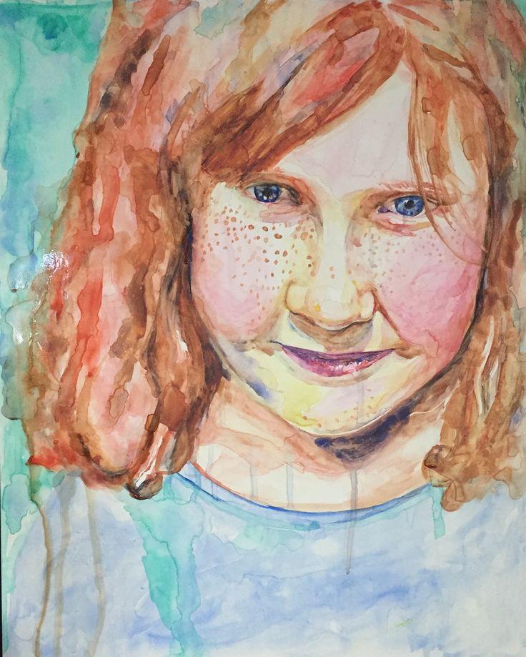 Watercolour portrait by Jen Hoddinott