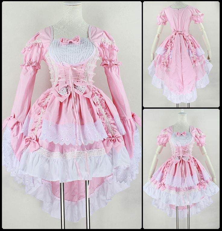 Aliexpress.com: Comprar Vestido Vintage Ball, gótica de la criada de Anime Cosplay traje de Halloween del partido del Bowknot vestidos mujeres Lolita de vestido de la carrera fiable proveedores en HangZhou BOBO  Cosplay Co., Ltd