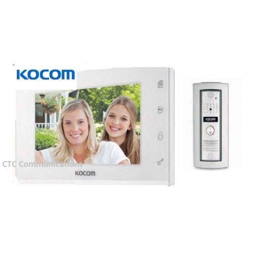 """New !!! Kocom Colour hands Free Video 7"""" Wide Screen KCV-504 with slimline door…"""
