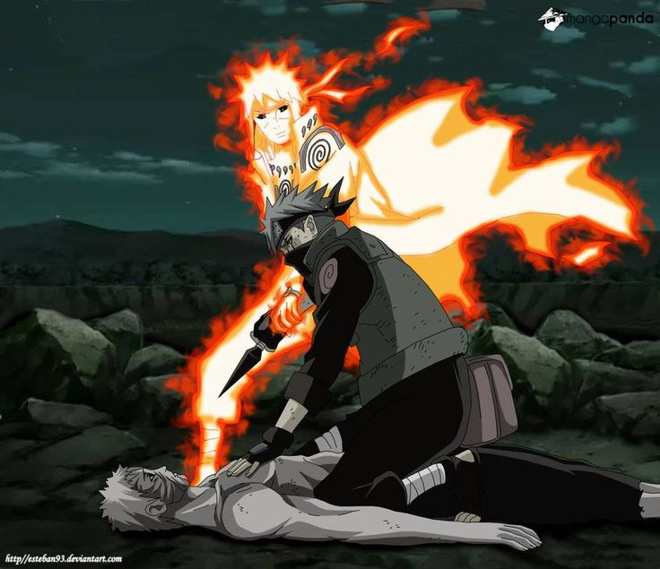 """If there is anyone who can uderstand Obito now, it is you Kakashi.""""-Minato"""