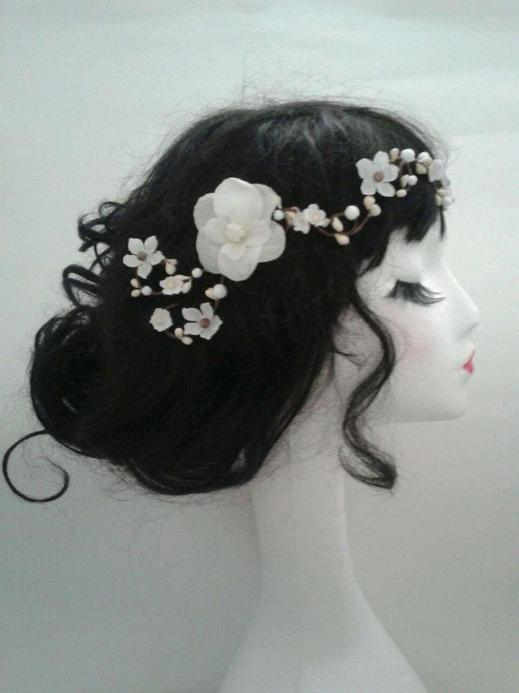 Floral Flower Headband Headdress Hair Band Wreath Crown Camellia Boho Wedding