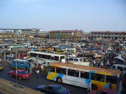 Guinea - capital: Conakry - photo: marketplace, Route de Niger - Conakry