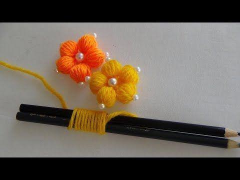 Handstickerei: Mit einfachen Tricks Blumen basteln – YouTube