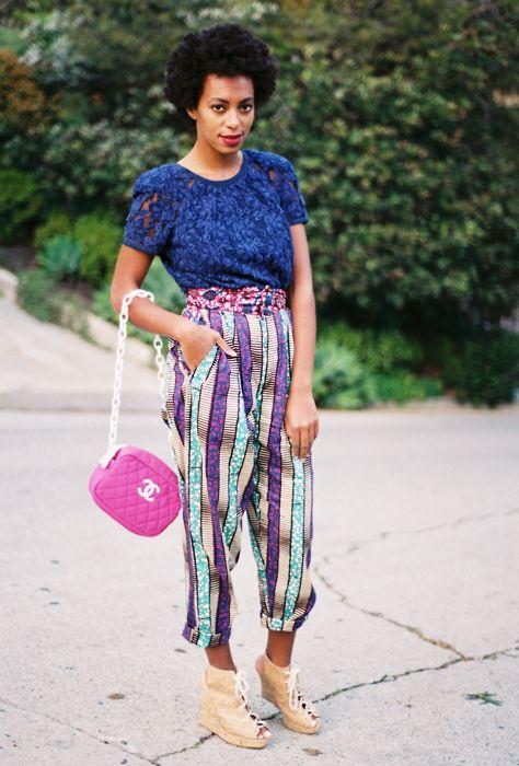 Solange on the street Street Style. #Africanfashion #AfricanClothing