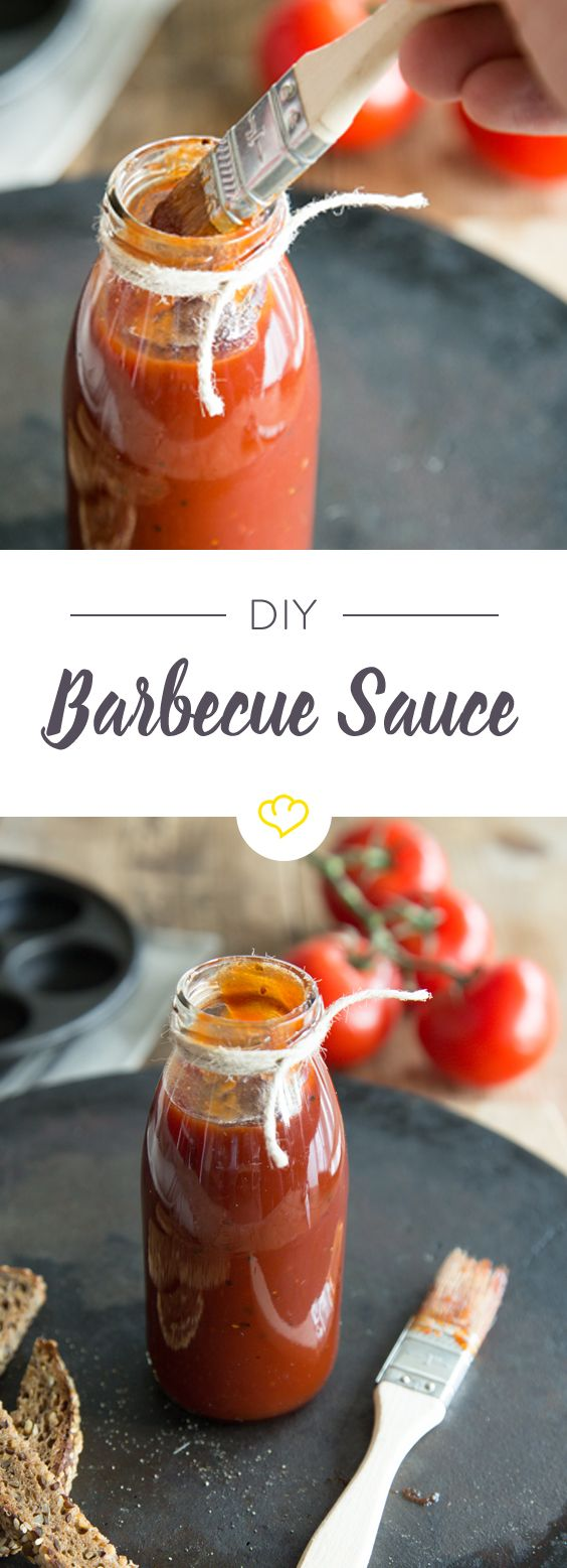 Smoky Barbecue Sauce - die perfekte Grundlage für deinen US-Grillabend. Dazu kommen statt der deutschen Würstchen saftige Steaks und Burger auf den Grill, denen die Sauce ein würzig rauchiges Aroma verleiht!