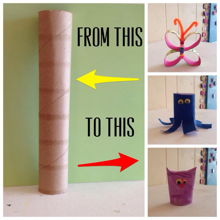 paper towel roll crafts for kids and adults turn the