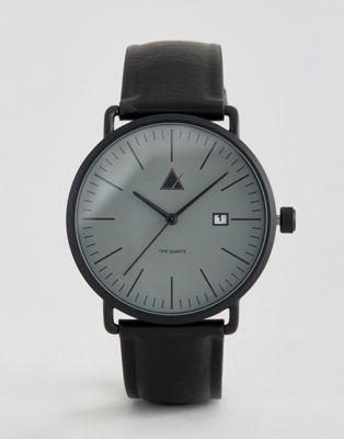 ASOS Watch in Black With Date Window