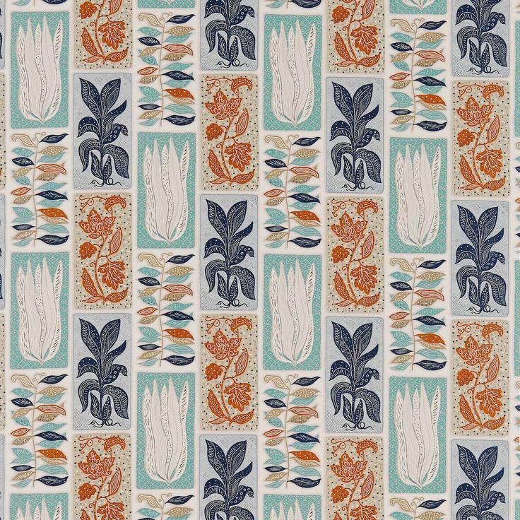 Seaweed Fabric Teal/Orange DFIF220029, £39.00 (http://www.britishwallpapers.co.uk/seaweed-fabric-teal-orange-dfif220029/)