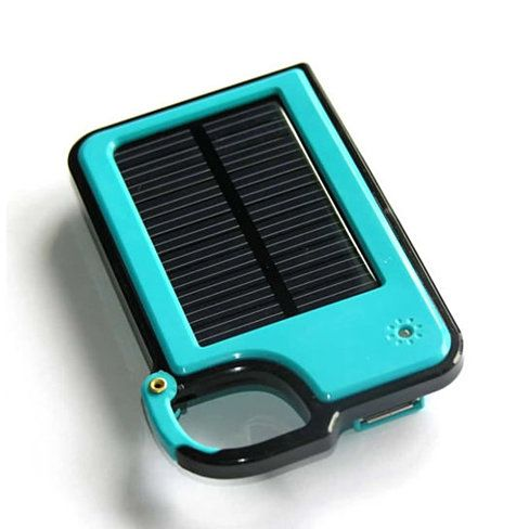 Seems great for runners, hikers, bikers. Clip On And Tag Along Solar Charger For Your Smartphone