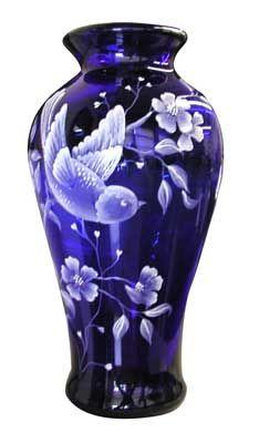 Fenton Art Glass #blue #vase
