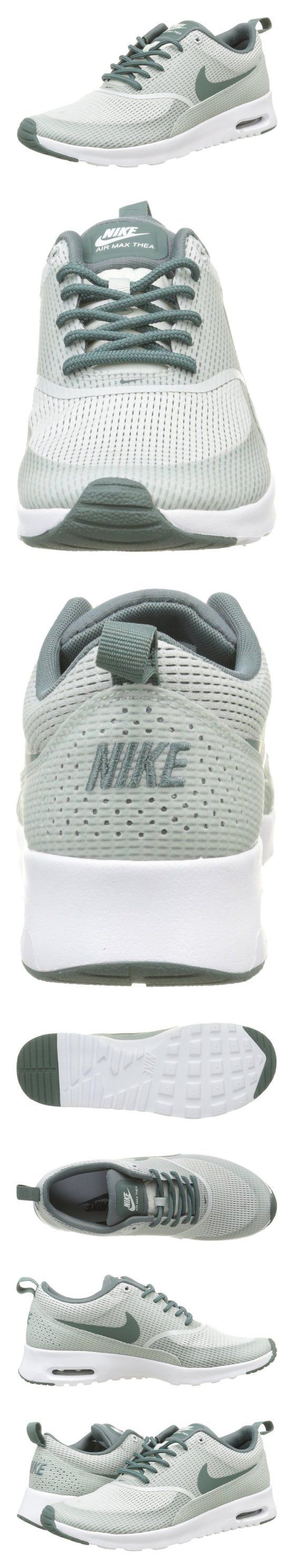 $95 - Nike Women's Air Max Thea TxT Light Silver/Hasta/White Running Shoe
