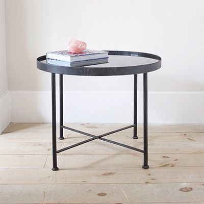 Criss Cross Base Side Table - Studio Collection