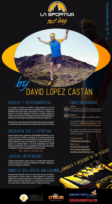 Entrenamiento trail running: Programa Training camp David López Castán - La Sportiva. La Granja San Ildefonso. 7-8FEB