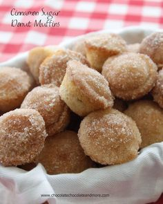 Cinnamon Sugar Donut Muffins-the softness of a donut in the shape of a muffin, covered with cinnamon sugar.