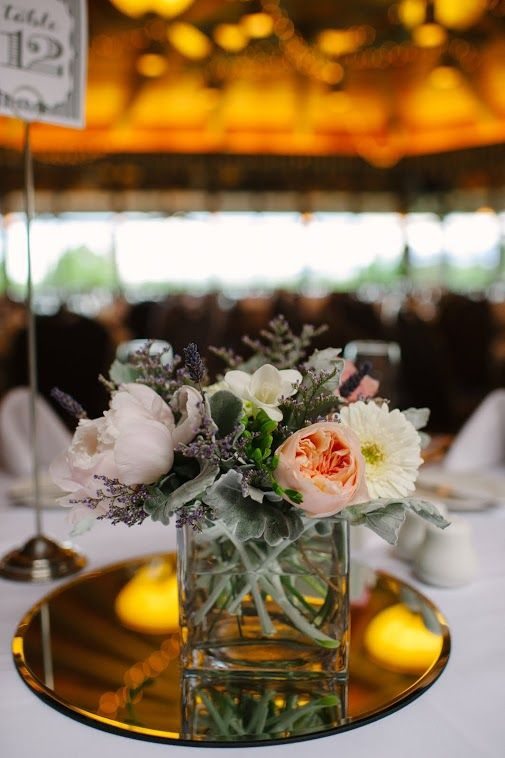 Cube centerpiece from Jessica & Page's June 2013 wedding at the Boulder Country Club. Bridal floral by Boulder Blooms. le m