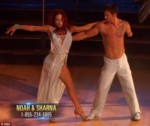 Friction in rehearsals: Noah Galloway and Sharna Burgess overcame friction in practice