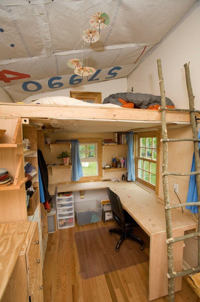 Lieblich Kinderzimmermöbel Ideen Hochbett Schreibtisch Leister äste