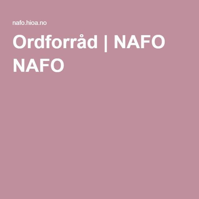 Ordforråd | NAFO NAFO