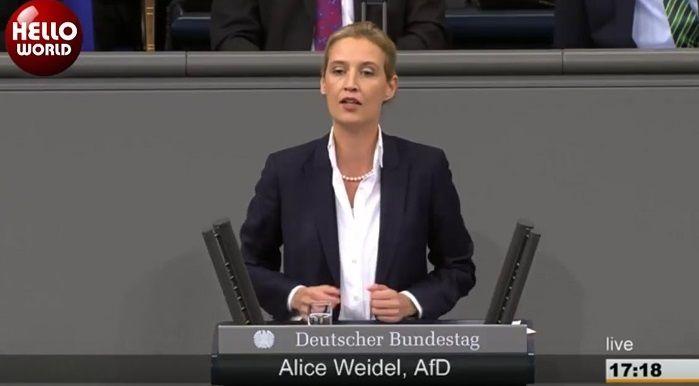 <p><span style='color:#e20613; font-family: Tahoma; font-size: 20px; line-height: 18px; text-transform: uppercase;'>Fulminante Rede von Alice Weidel</span></p> Herrlich! Wie die AfD den müden Reichstag wieder munter macht …