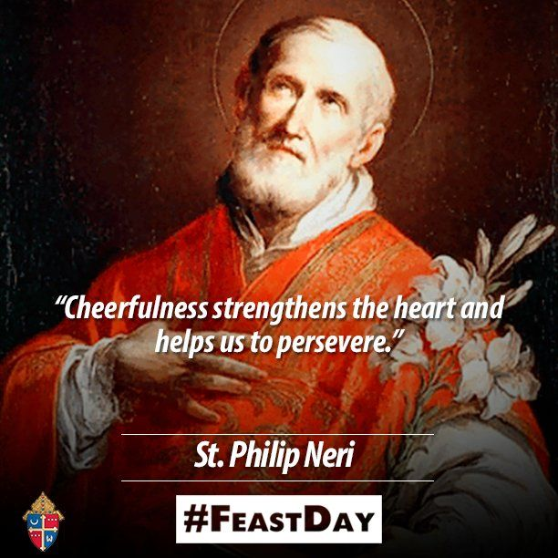RT @WashArchdiocese: Happy #FeastDay of St. Philip Neri, patron saint of US Special Forces and laughter and humour!