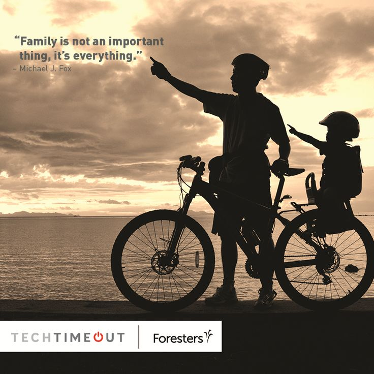 """""""Family is not an important thing. It's everything."""" - Michael J. Fox #family #techtimeout"""