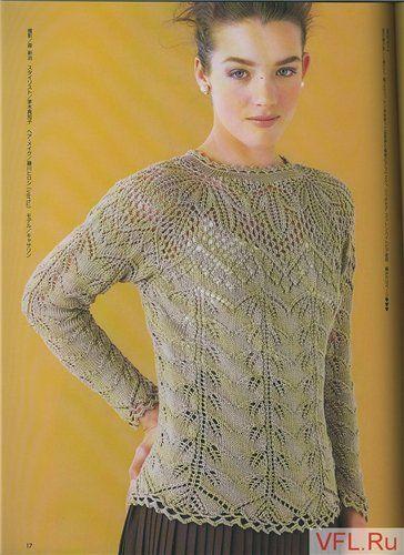 Пуловер спицами с круглой кокеткой. Обсуждение на LiveInternet - Российский Сервис Онлайн-Дневников