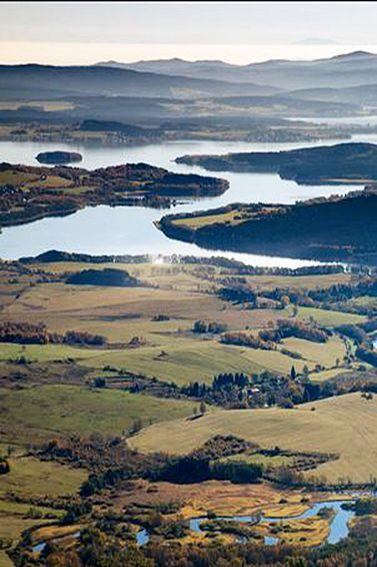Upper part of Lipno lake, Šumava, Czechia