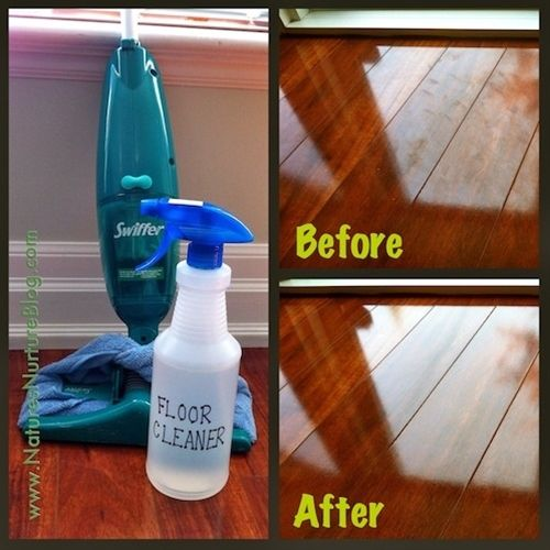 1 c water, 1 c vinegar, 1c alcohol, 2-3 drops dishwashing soap ~~ for shiny wood floors PLUS stainless steel appliances! - Click image to find more DIY & Crafts Pinterest pins