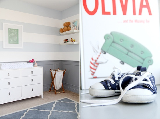 love molding and stripe wall!!!