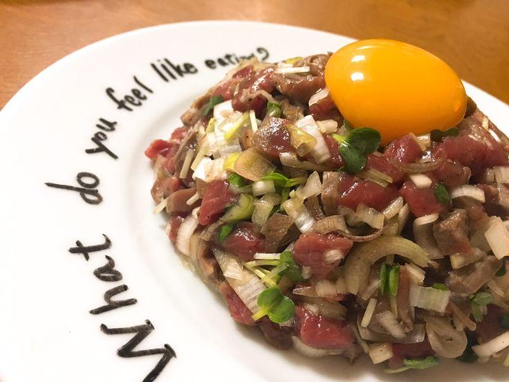 まるで生肉!満足度120%!肉を味わい尽くす幸せ肉レシピ「タルタルステーキ」