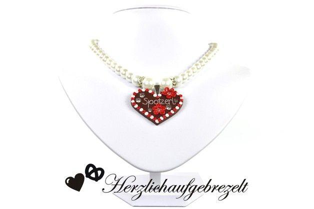 Sag´s doch mal ganz herzlich auf bayerisch, bleib dabei aber elegant und anmutig. Das edle Perlencollier mit einem vom dir kreierten Lebkuchenherz, deinem Wunschtext und in deiner Wunschfarbe wird...