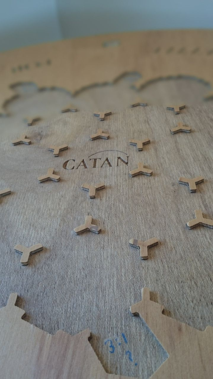 Settlers of Catan Table - Close up
