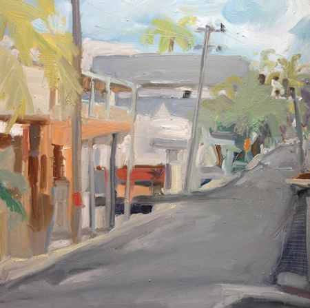 'Bangalow'. Oil on board. On one of my gessoed boards (I make my own gesso). 70 x 70cm.