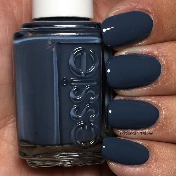 Smoky Gray Blue | This smokey grayish blue is such a great color to build a look…