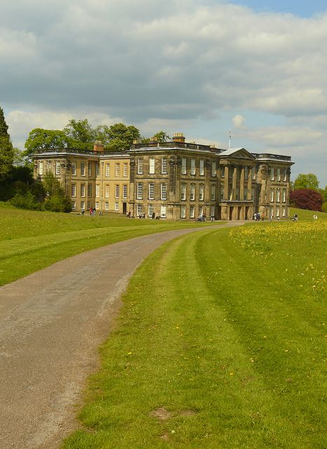 Caulke Abbey by Colin'sPic's, via Flickr.  The site was an Augustinian priory from the 12th century until its dissolution by Henry VIII. The present building, named Calke Abbey in 1808, was never actually an abbey, but is a Baroque mansion built between 1701 and 1704.     The house was owned by the Harpur family for nearly 300 years until it was passed to the Trust in 1985 in lieu of death duties.