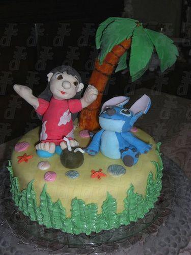 Lilo & Stitch Cake by Dragonfly Doces, via Flickr: Stitches Cakes, Fabulous Cakes, Cakes Based, Cakes Ideas, Decor Cakes, Lilo Stitch, Disney Lilo, Cakes 3Misc, Disney Cakes