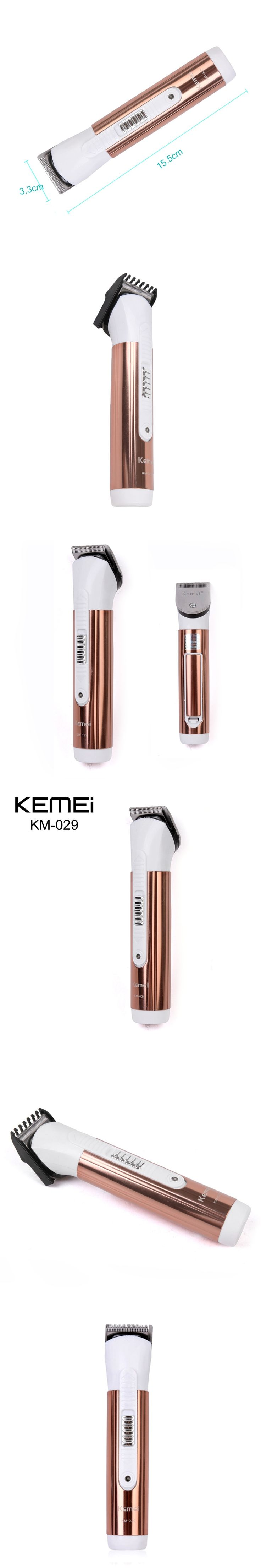 Electric Hair Clipper Trimmer with Limit Comb Adjustor Rechargeable Hair Shaver Razor Cordless Adjustable Clipper KM-029