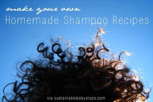 """4 """"No Poo"""" Shampoo Recipes and Alternatives - Sustainable Baby Steps"""