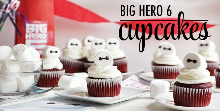Make these Baymax inspired cupcakes with your kids from @MsRachelHollis today: http://di.sn/jwr